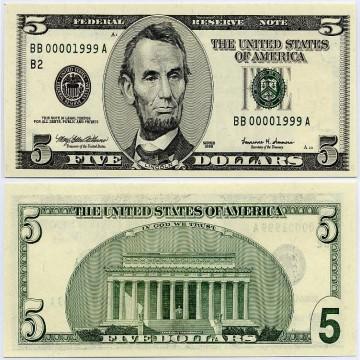 USD 5 Bills