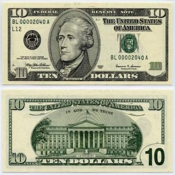 USD 10 Bills