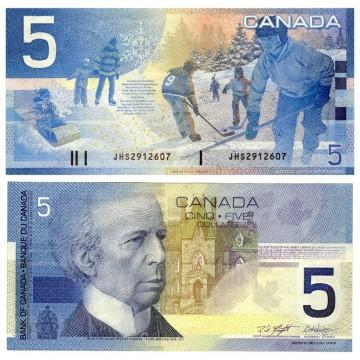 CAD 5 Bills