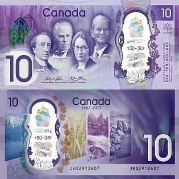 CAD 10 Bills